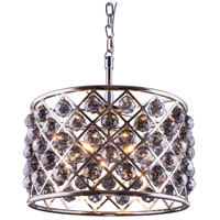 Elegant Lighting Madison 6 Light Pendant in Polished Nickel with Royal Cut Silver Shade Crystal 1206D20PN-SS/RC