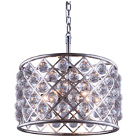 Elegant Lighting Madison 6 Light Pendant in Polished Nickel with Royal Cut Clear Crystal 1206D20PN/RC