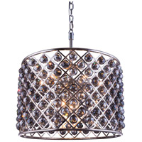 Madison 8 Light 28 inch Polished Nickel Pendant Ceiling Light in Silver Shade, Faceted Royal Cut