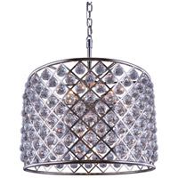 Madison 8 Light 28 inch Polished Nickel Pendant Ceiling Light in Clear, Faceted Royal Cut, Urban Classic