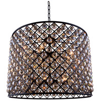 Urban Classic by Elegant Lighting Madison 12 Light Pendant in Mocha Brown with Royal Cut Golden Teak Crystal 1206D35MB-GT/RC