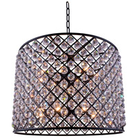 Urban Classic by Elegant Lighting Madison 12 Light Pendant in Mocha Brown with Royal Cut Clear Crystal 1206D35MB/RC
