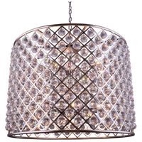Urban Classic by Elegant Lighting Madison 12 Light Pendant in Polished Nickel with Royal Cut Clear Crystal 1206D35PN/RC