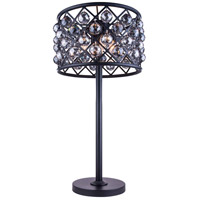 Madison 32 inch 60 watt Mocha Brown Table Lamp Portable Light in Silver Shade, Faceted Royal Cut
