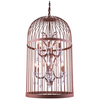 Urban Classic by Elegant Lighting Austin 12 Light Pendant in Rustic Intent with Royal Cut Clear Crystal 1207D21RI/RC