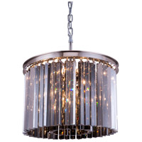 Sydney 6 Light 20 inch Polished Nickel Pendant Ceiling Light in Silver Shade