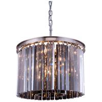 Elegant Lighting 1208D20PN-SS/RC Sydney 6 Light 20 inch Polished Nickel Pendant Ceiling Light in Silver Shade Urban Classic