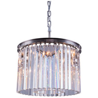 Elegant Lighting 1208D20PN/RC Sydney 6 Light 20 inch Polished Nickel Pendant Ceiling Light in Clear, Urban Classic