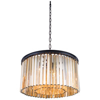 Urban Classic by Elegant Lighting Sydney 8 Light Pendant in Mocha Brown with Royal Cut Golden Teak Crystal 1208D26MB-GT/RC