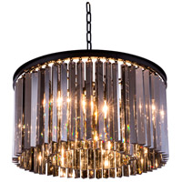Urban Classic by Elegant Lighting Sydney 8 Light Pendant in Mocha Brown with Royal Cut Silver Shade Crystal 1208D26MB-SS/RC