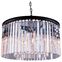 Sydney 8 Light 26 inch Matte Black Pendant Ceiling Light in Clear, Urban Classic