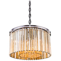 Urban Classic by Elegant Lighting Sydney 8 Light Pendant in Polished Nickel with Royal Cut Golden Teak Crystal 1208D26PN-GT/RC