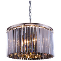 Urban Classic by Elegant Lighting Sydney 8 Light Pendant in Polished Nickel with Royal Cut Silver Shade Crystal 1208D26PN-SS/RC