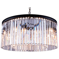 Sydney 8 Light 32 inch Matte Black Pendant Ceiling Light in Clear, Urban Classic
