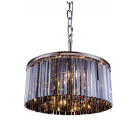 Urban Classic by Elegant Lighting Sydney 8 Light Pendant in Polished Nickel with Royal Cut Silver Shade Crystal 1208D31PN-SS/RC