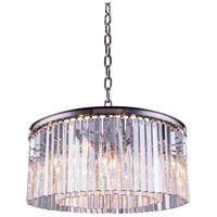 Urban Classic by Elegant Lighting Sydney 8 Light Pendant in Polished Nickel with Royal Cut Clear Crystal 1208D31PN/RC