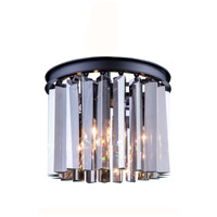 Urban Classic by Elegant Lighting Sydney 3 Light Flush Mount in Mocha Brown with Royal Cut Silver Shade Crystal 1208F12MB-SS/RC