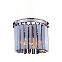Urban Classic by Elegant Lighting Sydney 3 Light Flush Mount in Polished Nickel with Royal Cut Silver Shade Crystal 1208F12PN-SS/RC