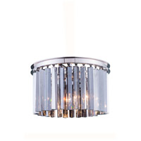 Sydney 3 Light 16 inch Polished Nickel Flush Mount Ceiling Light in Silver Shade