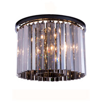 Urban Classic by Elegant Lighting Sydney 6 Light Flush Mount in Mocha Brown with Royal Cut Silver Shade Crystal 1208F20MB-SS/RC