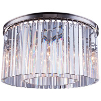 Elegant Lighting 1208F26PN/RC Sydney 8 Light 26 inch Polished Nickel Flush Mount Ceiling Light in Clear Urban Classic