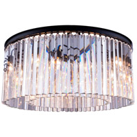 Elegant Lighting 1208F31MB/RC Sydney 8 Light 32 inch Matte Black Flush Mount Ceiling Light in Clear Urban Classic