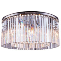Elegant Lighting 1208F31PN/RC Sydney 8 Light 32 inch Polished Nickel Flush Mount Ceiling Light in Clear Urban Classic