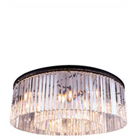 Sydney 10 Light 44 inch Mocha Brown Flush Mount Ceiling Light in Clear, Urban Classic