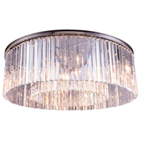 Sydney 10 Light 44 inch Polished Nickel Flush Mount Ceiling Light in Clear, Urban Classic