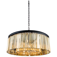 Urban Classic by Elegant Lighting Sydney 10 Light Pendant in Mocha Brown with Royal Cut Golden Teak Crystal 1208G43MB-GT/RC