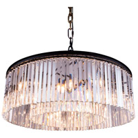 Sydney 10 Light 44 inch Mocha Brown Pendant Ceiling Light in Clear