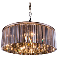 Sydney 10 Light 44 inch Polished Nickel Pendant Ceiling Light in Silver Shade