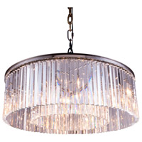 Urban Classic by Elegant Lighting Sydney 10 Light Pendant in Polished Nickel with Royal Cut Clear Crystal 1208G43PN/RC