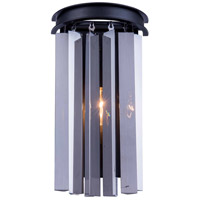Urban Classic by Elegant Lighting Sydney 2 Light Wall Sconce in Mocha Brown with Royal Cut Silver Shade Crystal 1208W8MB-SS/RC