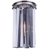Urban Classic by Elegant Lighting Sydney 2 Light Wall Sconce in Polished Nickel with Royal Cut Silver Shade Crystal 1208W8PN-SS/RC