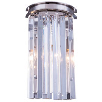 Urban Classic by Elegant Lighting Sydney 2 Light Wall Sconce in Polished Nickel with Royal Cut Clear Crystal 1208W8PN/RC