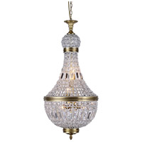 Urban Classic by Elegant Lighting Stella 6 Light Foyer in French Gold with Royal Cut Clear Crystal 1209D17FG/RC