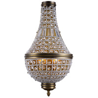 Elegant Lighting 1209W13FG/RC Stella 3 Light 14 inch French Gold Wall Sconce Wall Light, Urban Classic