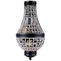 Urban Classic by Elegant Lighting Stella 2 Light Wall Sconce in Dark Bronze with Royal Cut Clear Crystal 1209W9DB/RC