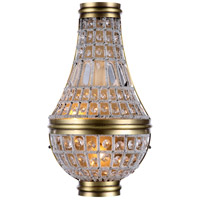 Elegant Lighting 1209W9FG/RC Stella 2 Light 10 inch French Gold Wall Sconce Wall Light, Urban Classic