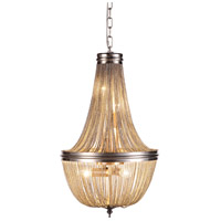 Paloma 6 Light 14 inch Pewter Foyer Ceiling Light, Urban Classic