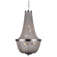 Elegant Lighting 1210D17PW Paloma 6 Light 17 inch Pewter Foyer Ceiling Light, Urban Classic