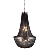 Paloma 6 Light 21 inch Dark Grey Foyer Ceiling Light
