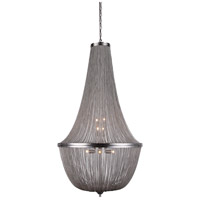 Elegant Lighting 1210D30PW Paloma 10 Light 30 inch Pewter Foyer Ceiling Light, Urban Classic