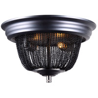 Paloma 2 Light 12 inch Dark Grey Flush Mount Ceiling Light