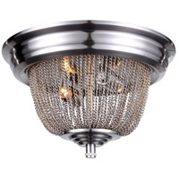 Paloma 2 Light 12 inch Pewter Flush Mount Ceiling Light
