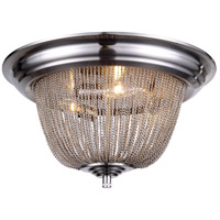 Paloma 3 Light 18 inch Pewter Flush Mount Ceiling Light, Urban Classic