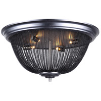 Paloma 4 Light 24 inch Dark Grey Flush Mount Ceiling Light