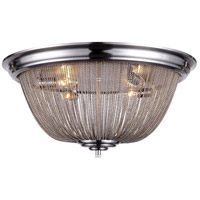 Paloma 4 Light 24 inch Pewter Flush Mount Ceiling Light, Urban Classic