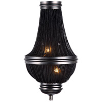 Urban Classic by Elegant Lighting Paloma 2 Light Wall Sconce in Dark Grey 1210W9DG